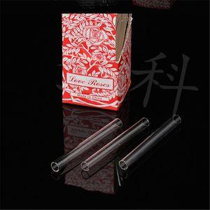 Love Rose Glass Tube Smoking Accessories 36pcs in one box glass smoke pipe tobacco pipe smoke accessory Smoking Glass Tube