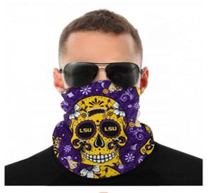 Ncaa Lsu Tiger Seamless Neck Gaiter Shield Scarf Bandana Face Masks Uv Protection for Motorcycle Cycling Riding Running Headbands