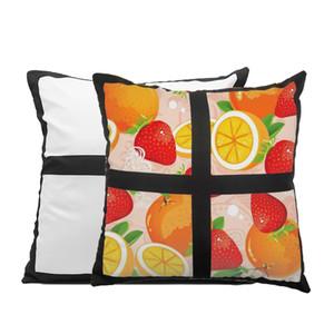 Heat Transfer Sublimation Blanks Pillowcase Square 4 Block DIY Printing Photo Pillow Cushion Cover Decor Pillows LLA250