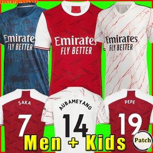 Camiseta de fútbol Arsen 20 21 Versión del jugador de fans PEPE SAKA THOMAS WILLIAN NICOLAS GUENDOUZI TIERNEY 2020 camiseta de fútbol chandal Hombre + Kit de niños la soccer jersey
