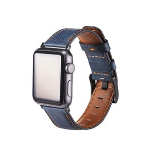 Free shipping Leather Watch Band fit for Apple Watch Series 6 5 4 3 2 1 38mm,40MM ,42mm,44MM Strap for iWatch Bracelet