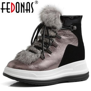 FEDONAS Brand Women Wool Ankle Boots Winter Warm Short Boots Genuine Leather Office Casual Shoes Woman Flats Platform Boots 201020