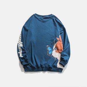 f8xj1 Xinchen outono pescoço 2020 em torno do pescoço casuais impressa para e mulheres Xinchen Outono 2020 camisola rodada ocasional solta impressa para homens soltos s