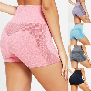 2021 Women Yoga Shorts Sports Running Sportswear Fitness Seamless Joggers Athletic Exercise Gym Compression High Waist Shorts1