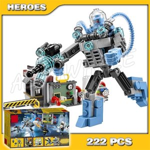 222pcs Super Heroes Batman Movie Mr. Freeze Ice Attack 10628 DIY Model Building Kit Blocks Gifts Movie Toys Compatible with X0102