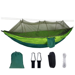 Portable Hammock With Mosquito Net Parachute Fabric Hammock Net Durable And Portable Suit For 2 Persons Tree Tent Outdoors yxlEei