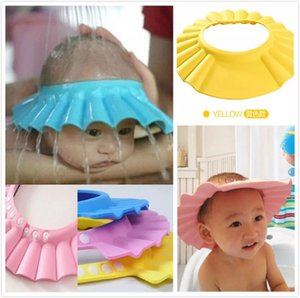 2020 New Baby Children Kids Safe Shampoo Bath Bathing Shower Cap Hat Wash Hair Shield adjustable elastic Shampoo Cap Bath Visor Hats