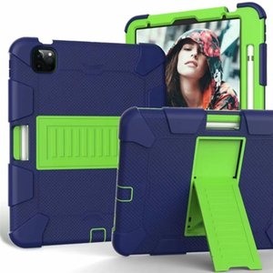 Shockproof Holder Hybrid Armor Tablet Case for IPad 10.2 10.9 9.7 AIR 2 4 5 7 Samsung Tab A T307 T290 T510