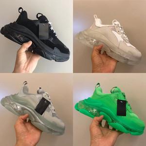 2021 Klare Blase Triple S Turnschuhe Frauen Männer Luxus Vati Schuhe Vintage Opa Trainer 17FW Freizeitschuhe 12 Farben US5-11