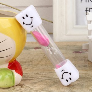 2020 New 3 Minutes Clocks Hourglasses Toothbrush Timer For Brushing Kids Teeth Home Cooking Game Smiley Sand Timer Home Decor Anti-fall