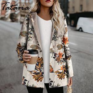 Jacket Tataria Inverno para Casaco de Inverno revestimento do revestimento das mulheres Feminino Velvet Thicken de Mulheres Hoodies Imprimir Parka Mulheres