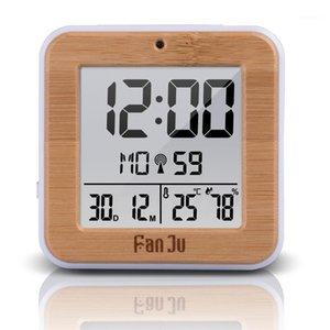 Fanju FJ3533 LCD Despertador Digital com Temperatura Interior Despertador Dual Bateria Operado Snooze Data1