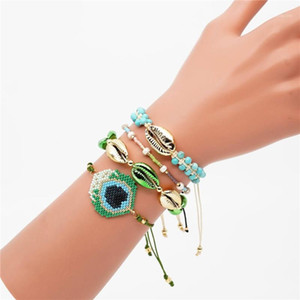 Black FRIDAY DEALS luxury miyuki jewelry pulseras new ohio state peacock feather MIYUKI bracelet braclets for women accessories1