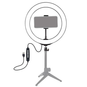LED Light Ring RVB colorée Dimmable USB Light Ring pour la vidéo en direct 8 pouces / 20cm avec Phone Clip