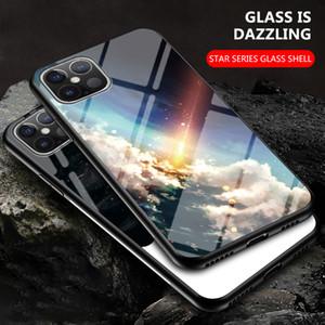 XS MAX 6 7 8 più la copertura di lusso antiurto 12 11 pro Max XR per l'iPhone cielo stellato vetro temperato Specchio Cell Phone