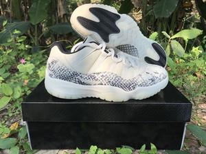 11 gs geração de cobra cinza branco homens sapatos de basquete de alta qualidade 11s baixos snakeskin vermelho jumpman mens esportes sapatilhas com caixa