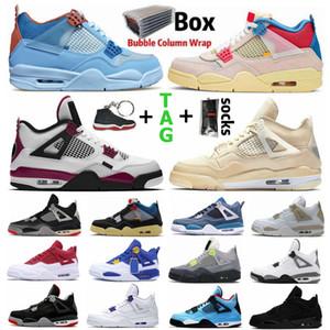 air jordan 4 Black Cat Bred psg jordan 4 retro 4 4s Hommes Femmes Chaussures de basket Cactus Jack What The Red Metallic White Cement Sports Outdoor Shoe