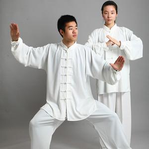 Традиционная китайская одежда 14 Цвет с длинными рукавами ушу тайцзи Мужчины KungFu Равномерное Костюм Униформа Tai Chi упражнения Одежда