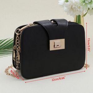 THINKTHENDO New Women Chain Strap Flap Designer Handbags Shoulder Bag Clutch Messenger Fashion Faux leahter Handbag