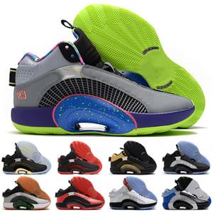 2020 New Arrive Jumpman XXXV 35 Grey Starry Sky White Black Jade Mens Basketball Shoes Fashion Black White Red 35S Sports Sneake