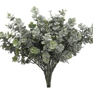 HOT SALE 3 Pcs Artificial Eucalyptus Greenery with Stems Uv Resistant Faux Eucalyptus Plant Silver Dollar