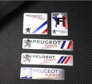 2019 Fashion Francia Bandiera nazionale del distintivo di alluminio sottile Etichettatura Emblem Sticker Car Styling per Peugeot Sport 206 408 508 307 406 3008