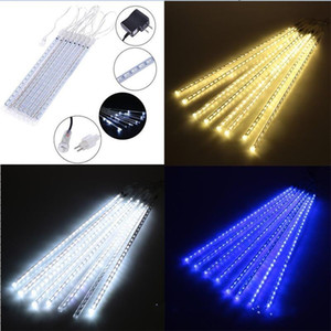 8 String Lamps Meteor Showers Rain Light Set LED Trees Lamp Wedding Waters Proof Birthday Party Decorate Rectangles White Glow 40hx L2
