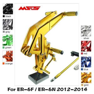 MFS Motorcycle Rearset CNC Adjustable Foot Pegs Accessories For Ninja ER6F ER6N 2012 2013 2014 Footrests 650R Footpegs