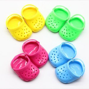 1 pair البسيطة حلوى اللون كهف الصنادل الأحذية ل 18 بوصة فتاة دمية الملحقات هدية 1