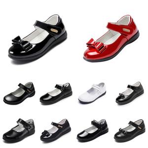Zapatos de plataforma para bebés Zapatos de cuero de cuero con fondos suaves Triple Triple Triple Blanco Blanco Al aire libre Tamaño 26-40