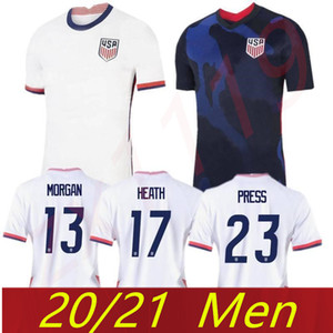 2020 US Jersey de football # 10 Pulisic Yedlin Bradley Soccer Shirt States États-Unis Mens # 7 Wood Dempsey Altidore Uniforme de football