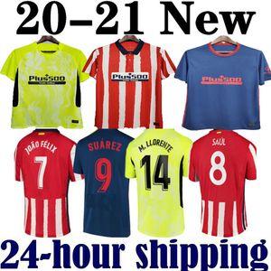 20 21 Atletico Futbol Madrid Formalar Joao Felix 2020 2021 Saul Camisetas de Fútbol Morata Mens Jersey Diego Kosta Futbol Gömlek
