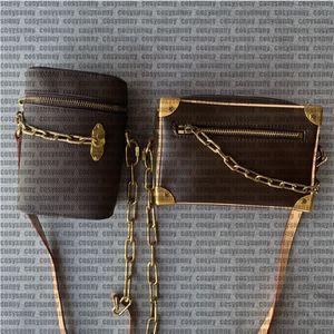 sacchetto di modo delle donne. Stampato bag rame antico catena hardware in pelle, borsa, mini bag, borsa a tracolla, borsa