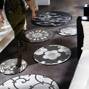 Modern Dia. 70 80100 cm Iridescent Ice Jade Floral Glass Mosaic Tile, Floor ceiling wall tile Home improvement Store decoration,