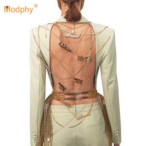 Heavy Industry personalizzato Catenina d'oro Pulsante Backless Blazer Donne sexy singolo sottile partito cappotto femminile 2020 della moda di New Tide C1115