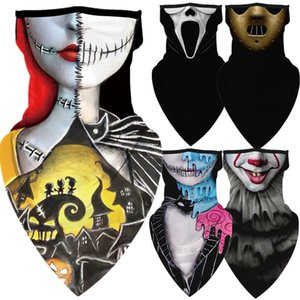 NewKillers Halloween The Motorcycle Nightmare Before Christmas Cycling Neck Scarf Masks Bandana Headband Cosplay Balaclava