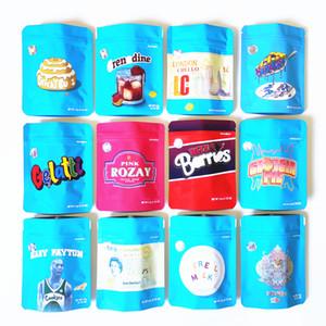 마른 허브 꽃 포장 가방 레몬 nade chuckles bag cali plug hashtag 블루 쿠키 정글 소년 가방 Runtz Mylar 지퍼 가방