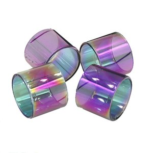 Rainbow Color Glass Tube TFV8 BABY TFV12 PRINCE BABY vape pen 22 Brit One Mini Pyrex Replacement Glass Sleeve Tube DHL Free