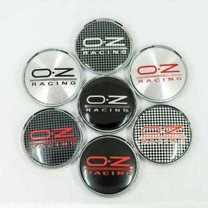 4pcs / Lot 14 Renkler 63mm Oz Yarışı Araba Tekerlek Merkezi Hub araba amblemi Badge Logo Tekerlek orta başlıklı Etiket Araba Şekillendirme Aksesuarlar Caps