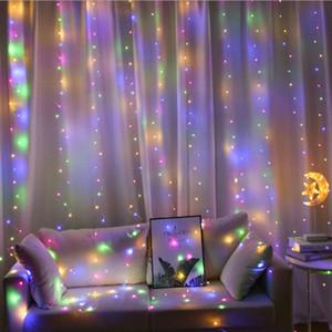 Festão da cortina do diodo emissor de luz 3mx3m na janela Feriry Festo da fada dos luzes do USB com controle remoto Ano novo Dia dos Namorados Decorações para casa