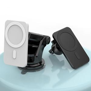 Chargeur de voiture sans fil magnétique 15W 10W QI de chargement rapide Tableau de bord du tableau de bord du tableau de bord d'air pour iPhone 12 Pro Max avec paquet de détail