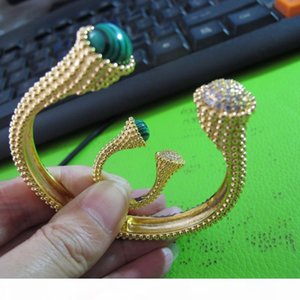 wholesale 2019 new designer cuff bangle bracelet and rings 18k gold plated jewelry sets for women