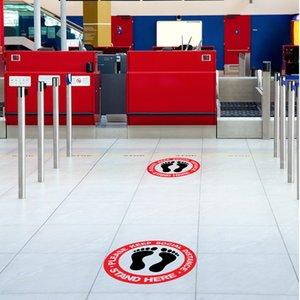 Floor Sticker Warning Sign Market Sticker Market Floor Marking Tape Keep Distance Sign Public Occasions Sticker For School Free DHL