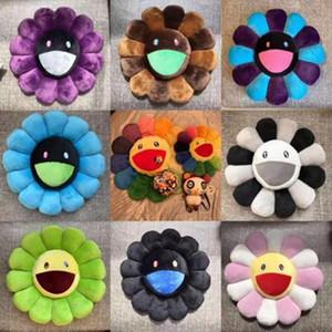 hot Murakami Takashi Sunflower Plush Cushion Toy Soft Pillow Sofa Doll