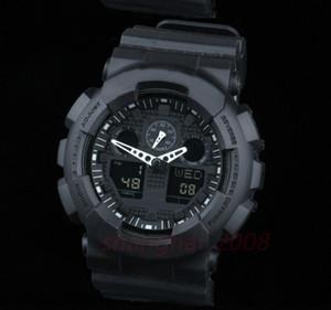 2020 Новый Оригинальный цвет Все функция Светодиодная армия Военные часы Мужские Водонепроницаемые Часы Все Указатели Работа Цифровые спортивные наручные часы