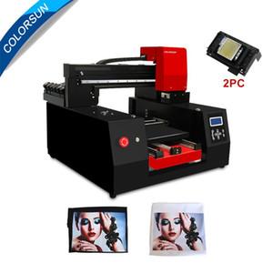 COLTERSUN 12 Farbe A3 + Automatischer Flachbettdrucker für T-Shirt Textilien für DX9 * 2 330 * 420mm mit T-Shirt-Fach 3060 DTG-Drucker