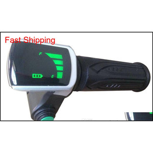 Twist Throttle Rolling Grips With Led Display&Cruise Switch Accelerator For Electric Bike Scooter With Batterylevel Indicator Tricycle Pzwq