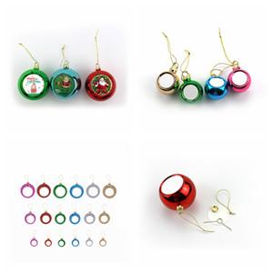 Diamètre Boule de Noël Sublimation 4cm / 6cm / 8cm décor blanc pour le transfert d'impression presse de la chaleur de bricolage blanc Cadeaux de Noël faveur FFA4492