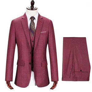 2020 Nouveaux hommes populaires Suit Marque Groomsmen Hommes Suit Châle Rose Rose Groom Tuxedos Ivoire Hommes Mens Suit Mariage Masculino Vestidos1
