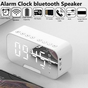 Mirror LED Alarm Clock Multifunction Wireless 5.0 Bluetooth Music Player Electronic Digital Table Clock with Dual Alarm Mode #zS50